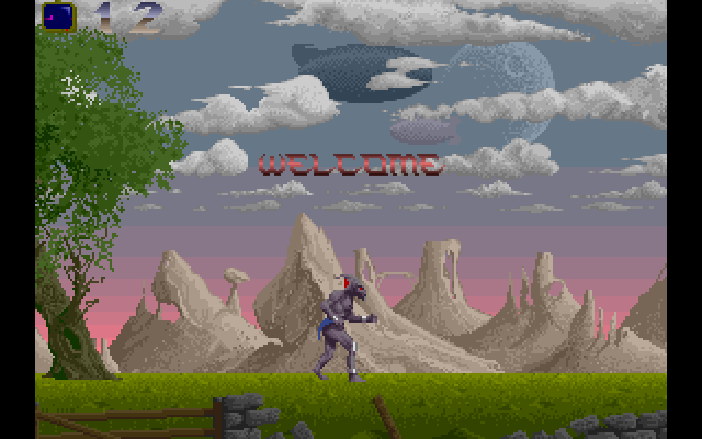 Amiga the plains welcome screen.