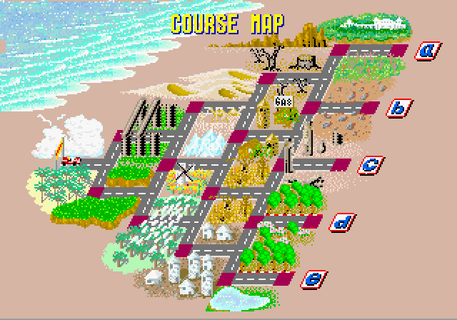 Arcade Course Map screen.