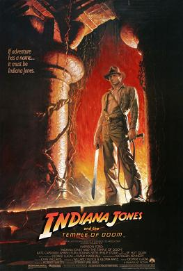 Indiana Jones and the Temple of Doom movie poster.