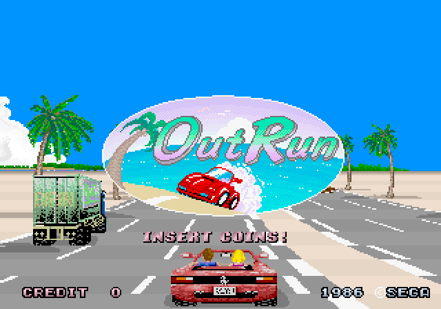 Arcade title screen.