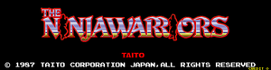 The Ninja Warriors title screen.