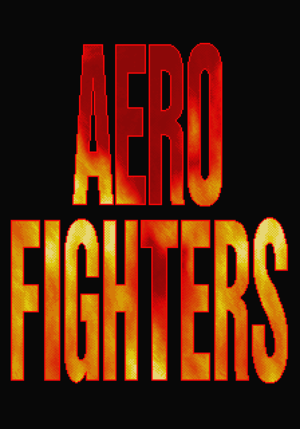 Aero Fighters title screen.