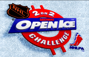 2 on 2 Open Ice Challenge title screen.