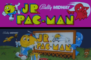 Jr. Pac-Man marquee.