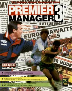 Premier Manager 3 (AGA) box scan