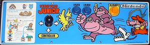 Donkey Kong Junior control panel.