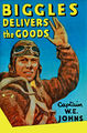 Biggles Delivers The Goods (1952 hardback book cover).jpg