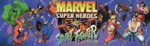 Marvel Super Heroes vs. Street Fighter marquee.