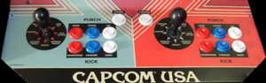 Street Fighter control panel.