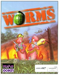 Worms (CD³²) box scan