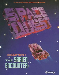 Space Quest box scan