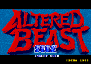 Altered Beast title screen.