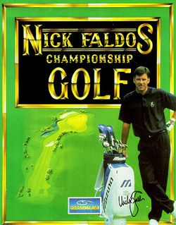 Nick Faldos Championship Golf box scan