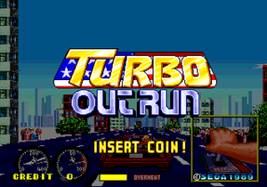 Turbo Out Run title screen.