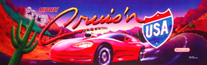 Cruis'n USA marquee.