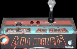 Mad Planets control panel.