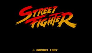Street Fighter title screen.