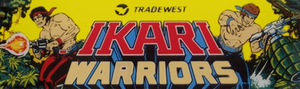 Ikari Warriors marquee.