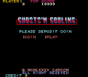 Ghosts'n Goblins title screen.