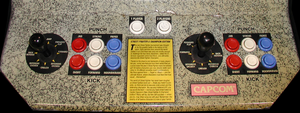 Street Fighter II' control panel.