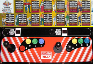 The Last Blade control panel.