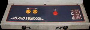 Astro Fighter control panel.