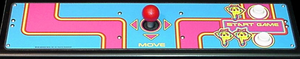Ms. Pac-Man control panel.