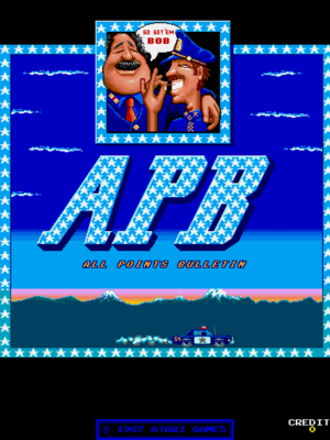 APB title screen.