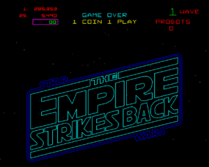 The Empire Strikes Back title screen.
