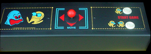 Pac-Man Plus control panel.
