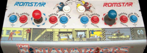 The Ninja Warriors control panel.