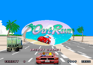 Out Run title screen.