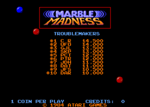 Marble Madness title.