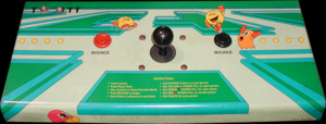 Pac-Mania control panel.