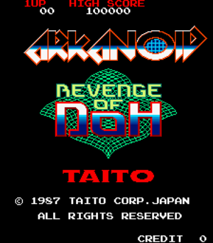 Arkanoid - Revenge of DOH title screen.