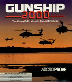 Gunship 2000 box scan