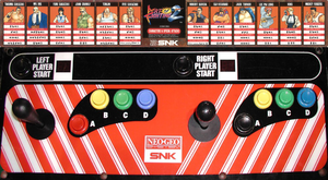 Art of Fighting 2 control panel.