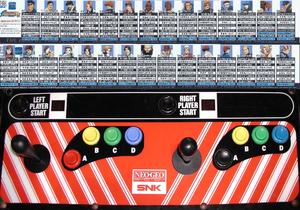 The King of Fighters '98 control panel.