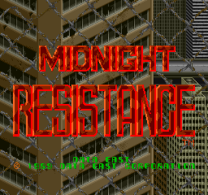 Midnight Resistance title.