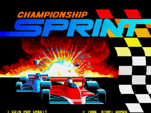 Championship Sprint title screen.