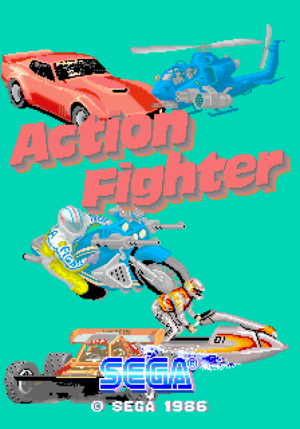 Action Fighter title screen.