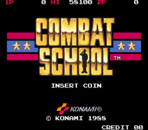 Combat School title screen.