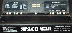 Space Wars control panel.