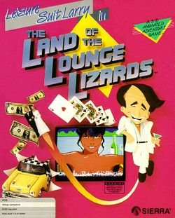 Leisure Suit Larry in the Land of the Lounge Lizards box scan