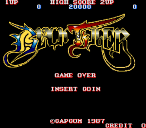 Black Tiger title screen.