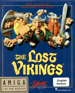 The Lost Vikings box scan