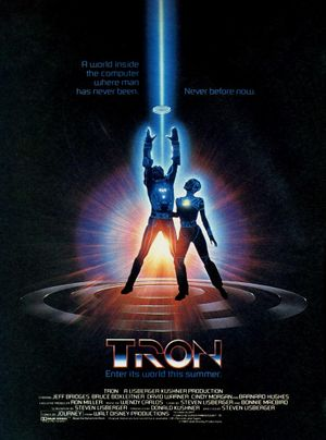 Tron movie poster.