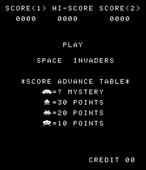 Space Invaders title.