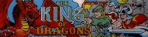 The King of Dragons marquee.