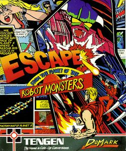 Escape from the Planet of the Robot Monsters box scan